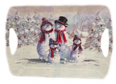 Snowman Family Large Tray